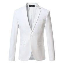 S-6XL, мужской костюм, пиджак, белый, синий, черный, серый, красный, деловой, свадебный, банкетный, тонкий, элегантный, Мужской Блейзер, пиджак и пальто