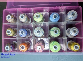 Simthread Sewing quilting thread pack Multicolor/ glow in the dark thread /metallic thread /bobbin thread фото