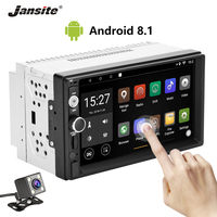 Jansite 7 2 din Car Radio Android 8.1 player DVD with digital 1080P Touch screen car stereo can be connected with Backup camera