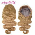 Angelbella Blonde Lace Front Wig Human Hair Wig 1pcs/lot Malaysian Body Wave 27# Bl Cosplay Wionde Lace frontal wigs Wave