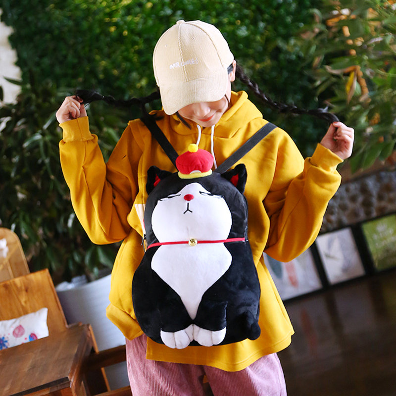 14 In Alien Invader Zim Gir Plush Backpack Stuffed Casual Kids School Bag