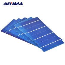 AIYIMA 20Pcs 0.5V 2.1W 156x78MM Solar Panel China Painel Cells DIY Charger Polycrystalline Silicon Placa Solar Bord