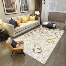Moda europa i ameryka abstrakcyjny beżowy 3D sypialnia dywanik do salonu kuchnia mata aksamitne antypoślizgowe dywan niestandardowych drzwi mata