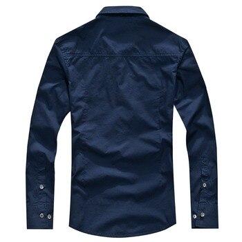 2018 shirt air force one men shirt long sleeve slim fit aeronautica militare men dress shirt 4XL camisas hombre camisa masculina 2