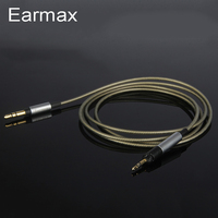 Earmax for Sennheiser HD598 HD558 HD518 HD595 Headphone Cable Headset Line Silver Plated Upgrade Cables 3.5mm to 2.5mm Plug