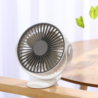 3 Gears DC5V USB Portable Fan Mini Desktop Rechargeable Summer Cooling Fan Built in 1000mAh Battery Clip Fan Desktop Ventilator