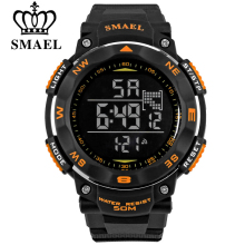 SMAEL brand led digital watches men sports 50M waterproof