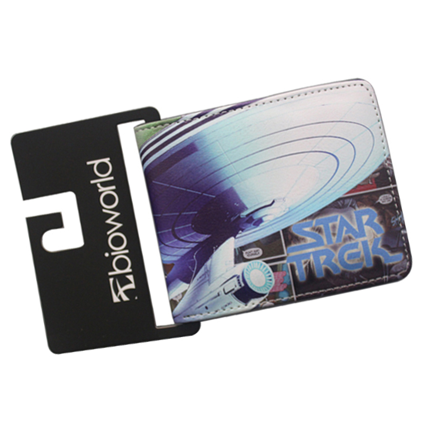 Science Fiction Movies Comics Letter Short Bifold Unisex STAR TREK Wallets Leather Money Slim Bag Credit Card Holder Anime Purse