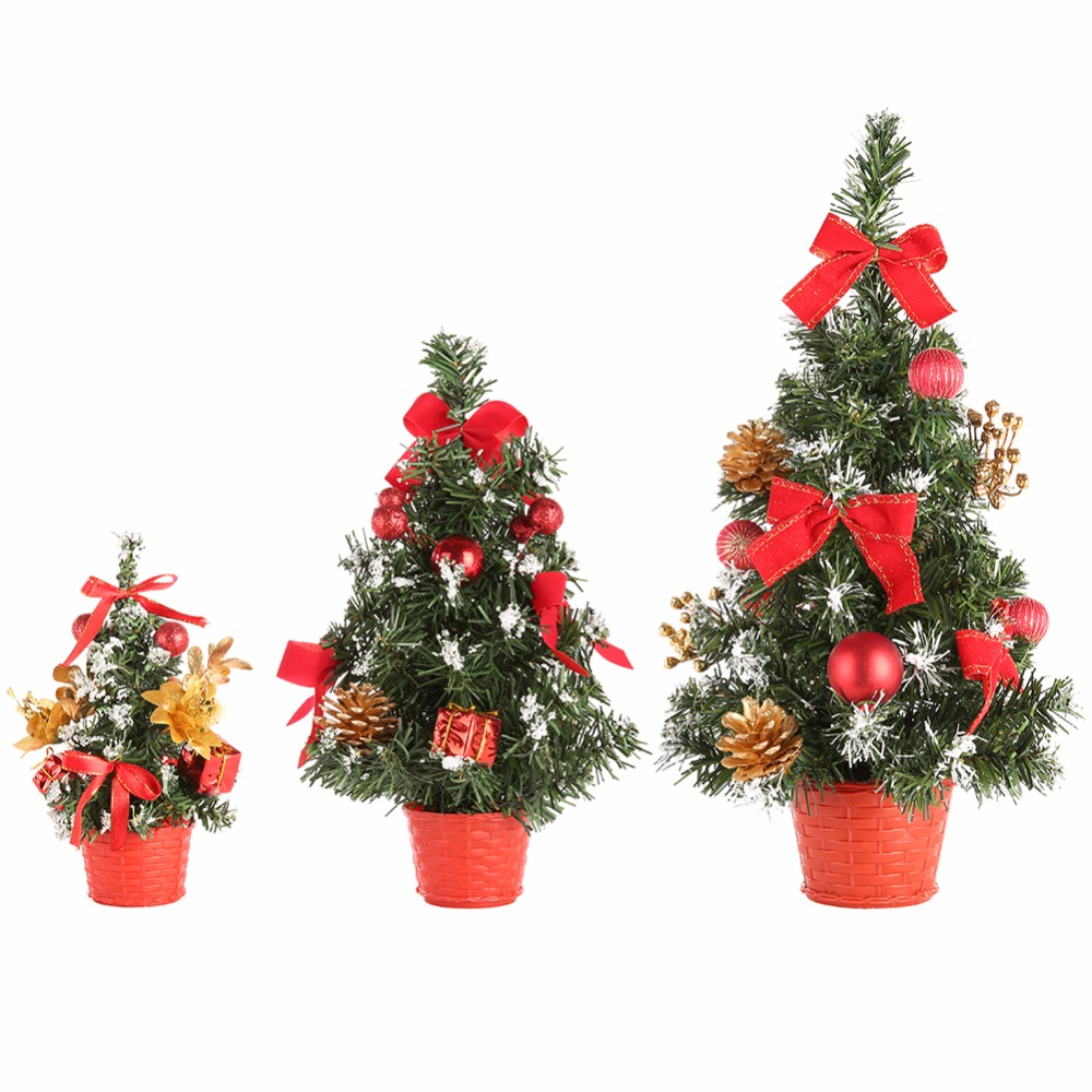 2017 1 Pcs Mini Christmas Trees Xmas Decorations A Small