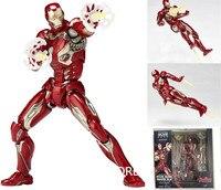 ALEN Animation Figure Iron man MK45 Juguetes PVC Action Figure Brinquedos Iron Man Model Doll Toys 17cm