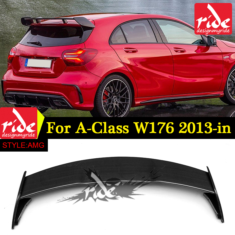 suitable <font><b>W176</b></font> carbon fiber painted sports Car <font><b>rear</b></font> <font><b>Spoiler</b></font> For <font><b>A</b></font>-<font><b>CLASS</b></font> A180/A200/A250 A45 AMG 2013-2018 <font><b>Rear</b></font> trunk <font><b>spoiler</b></font> Wing image