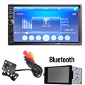 "7018B 7 ""LCD HD Double DIN Car In Dash-Tela de Toque de Som Do Carro Do Bluetooth FM MP3 MP5 Player com Rádio Sem Fio controle Remoto"