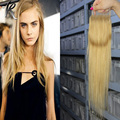 Brazilian Silk Straight Hair Lace Closure With Bleached Knots #27 Honey Blonde Middle/Free/Three Part 4*4 7A Remy Human Hair