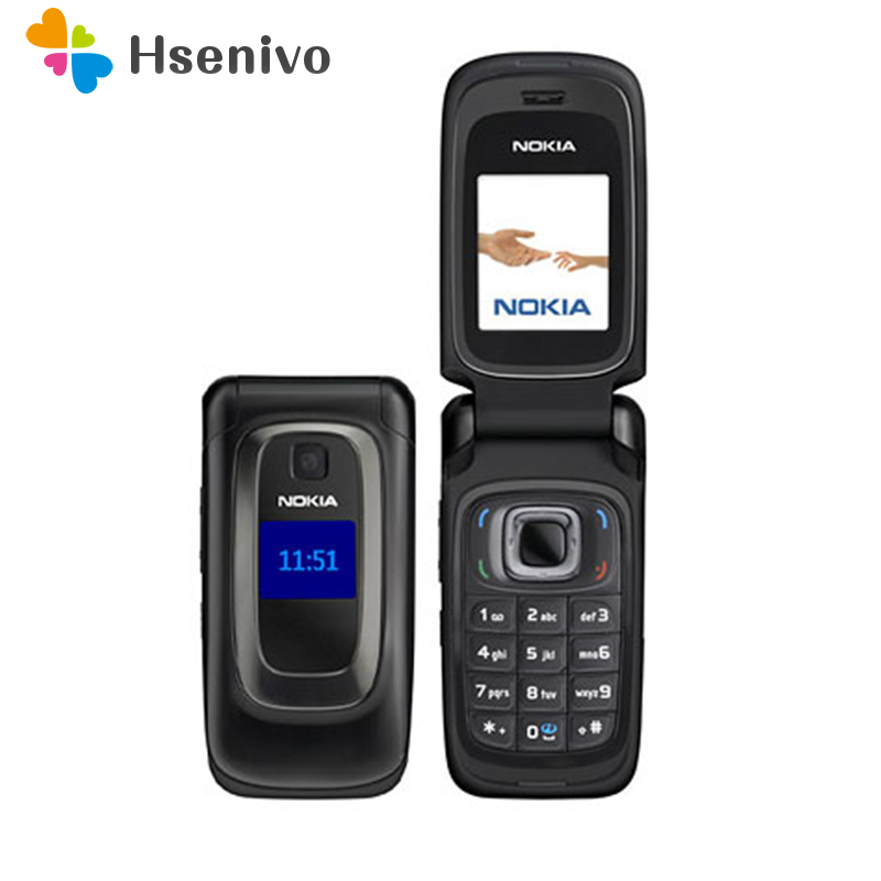 Original Nokia 6085 Mobile Phone 2G GSM Unlocked Flip Cellphone Refurbished