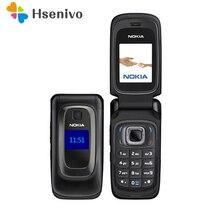 Восстановленное Оригинальное Nokia 6085 мобильный телефон 2 г GSM открыл флип телефона Бесплатная доставка