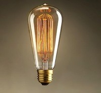 LightInBox 110V 220V ST58 40W E27 Retro Industry Incandescent Bulb 2pcs Lampada Edison Lamp Bulb Light