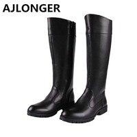 AJLONGER Male boots police boots riding high leg world war ii field equestrian man tall boots