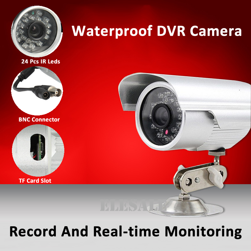 New Waterproof CCTV Camera Camcorder Outdoor Bullet Camera All-in-one System Night Vision Support 32G Micro-Sd Card bullet camera tube camera headset holder with varied size in diameter