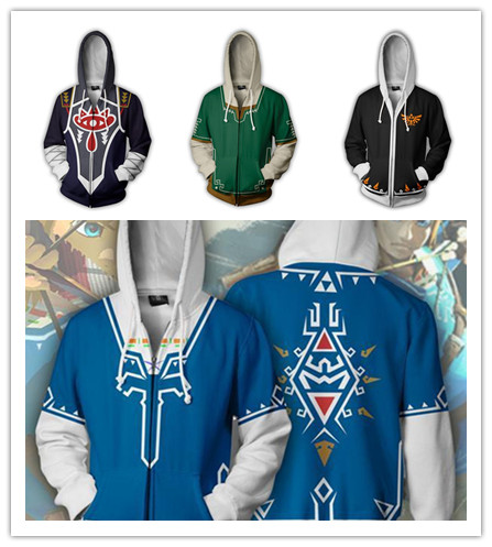 3D The Legend of Zelda GAME Academia sweatshirts Plus size uniform Men Women hoodies cosplay costume College clothing Top