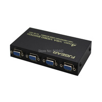 New 4 Ports 4 In To 1 Out VGA Splitter Switch Box
