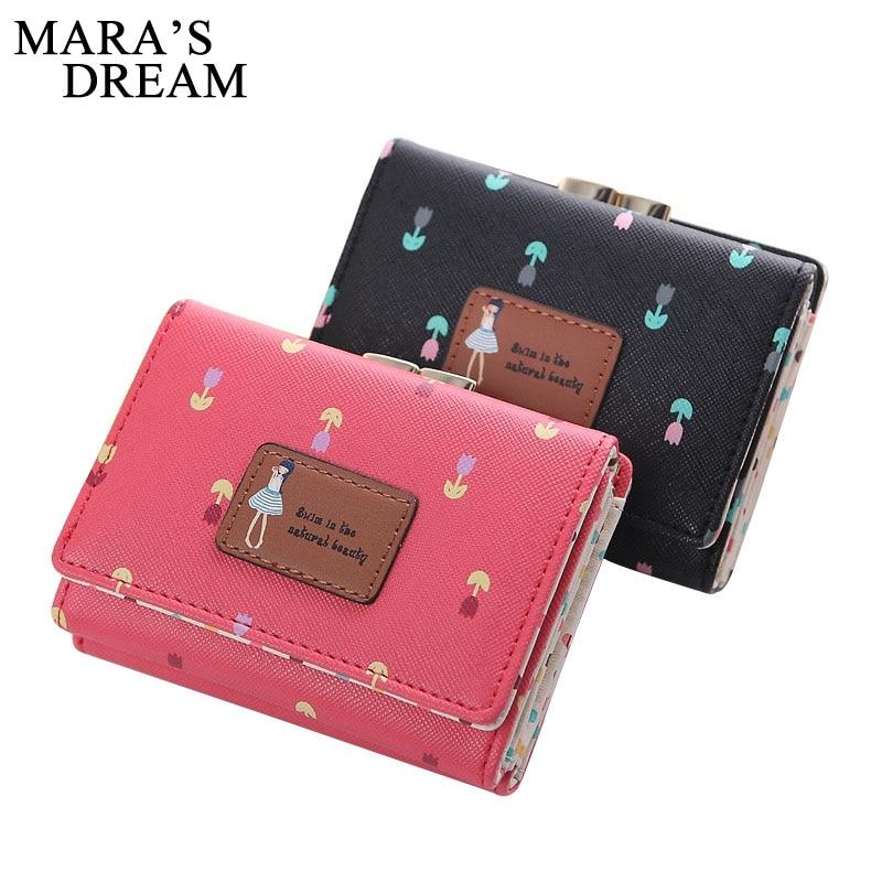 Women's Purse Wallets-Coin-Bag Short Mara's-Dream Small Girl 3-Fold Lady Kawaii Change