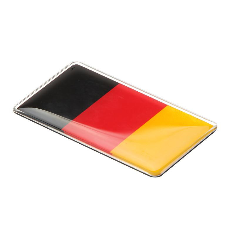 2 ШТ. 3D немецкий флаг решетка эмблема значок алюминия наклейка с логотипом передняя решетка постоянно для nissan audi volkswagen vw