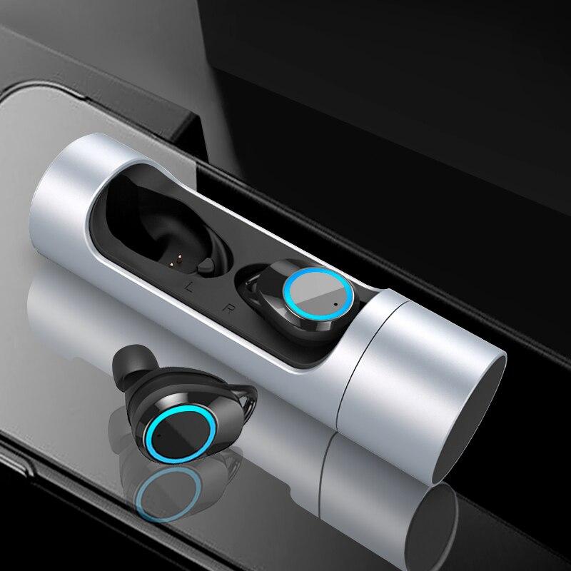 Touch Control TWS Vrai 5.0 Bluetooth Écouteurs Écouteurs Écouteur Mini Jumeaux Stéréo Microphone Sans Fil Écouteurs pour Tous Téléphone Intelligent
