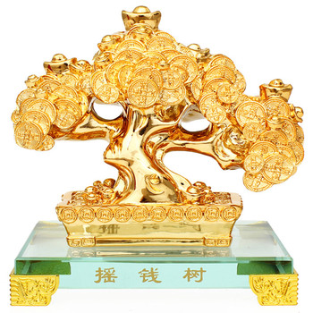 The factory's latest wealth tree family decorations and ornaments office living room set free shipping