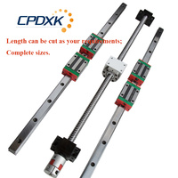 6 sets linear guide rail HGR20 400/1000/1600mm + ballscrew SFU1605 450/1050/1650mm + BK/BF12 + Nut housing
