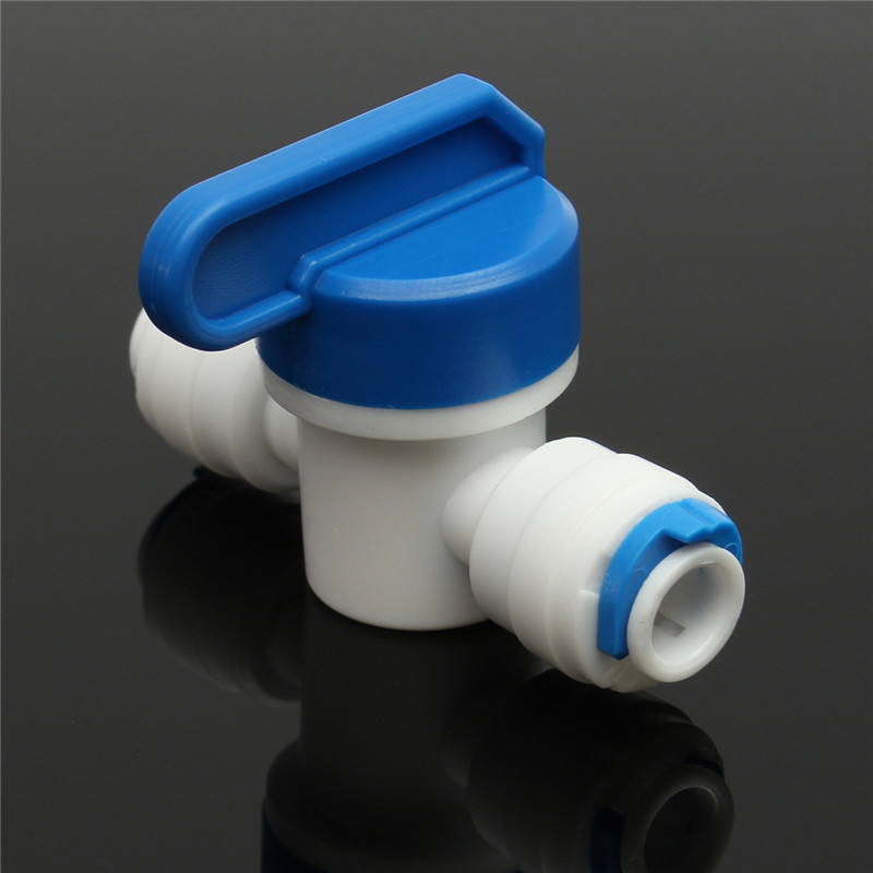 Equal Straight 1/4  OD Hose Quick Connection Ball Valve RO Water Reveser Osmosis Aquarium System Fittings Water Filter Parts