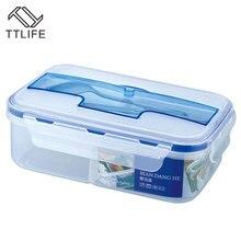 TTLIFE Creativo Moda partición microondas Ecológico Portátil Microondas Lunch Box Con Los Palillos y Cuchara de Alimentos Contenedores