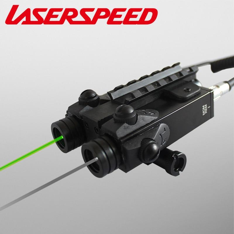 Laserspeed Hunting Rifles Ak 74 Gun Scope Miras Opticas Dual Beam Gun Accessories Laser Scope Weaver Picatinny Laser Rifle Scope