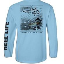 Re* l L* fe Мужская Рыбацкая футболка с длинным рукавом UPF50 быстросохнущая одежда для рыбалки спортивные рубашки для рыбалки Размер США S-3XL белый