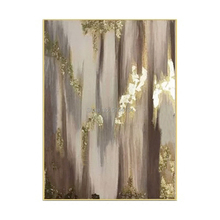Hot art Hand painted Abstract gold Oil Paintings canvas Painting wall painting for Living Room home Decoration