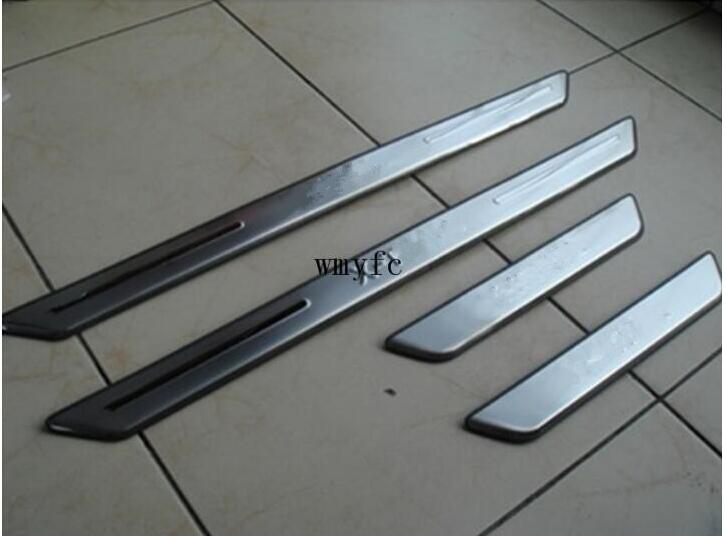 FIT FOR NISSAN X-TRAIL XTRAIL T31 Door Scuff Sill Plates Kick Step Entry Trim Cover Plate 2008 2009 2010 2011 -2013 ACCESSORIES