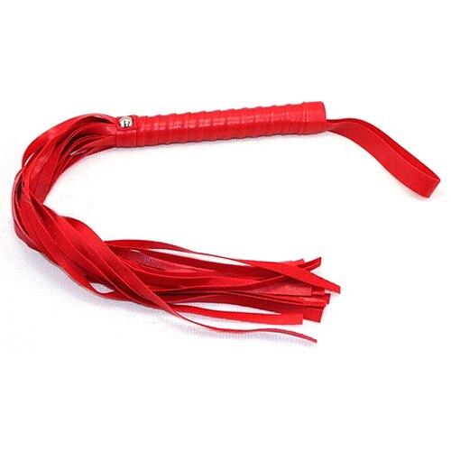 7 pièces/ensemble jouets érotiques en cuir pour adultes Bondage jouets sexuels menottes + jambes + fouet + col ras du cou rose/rouge/noir livraison directe