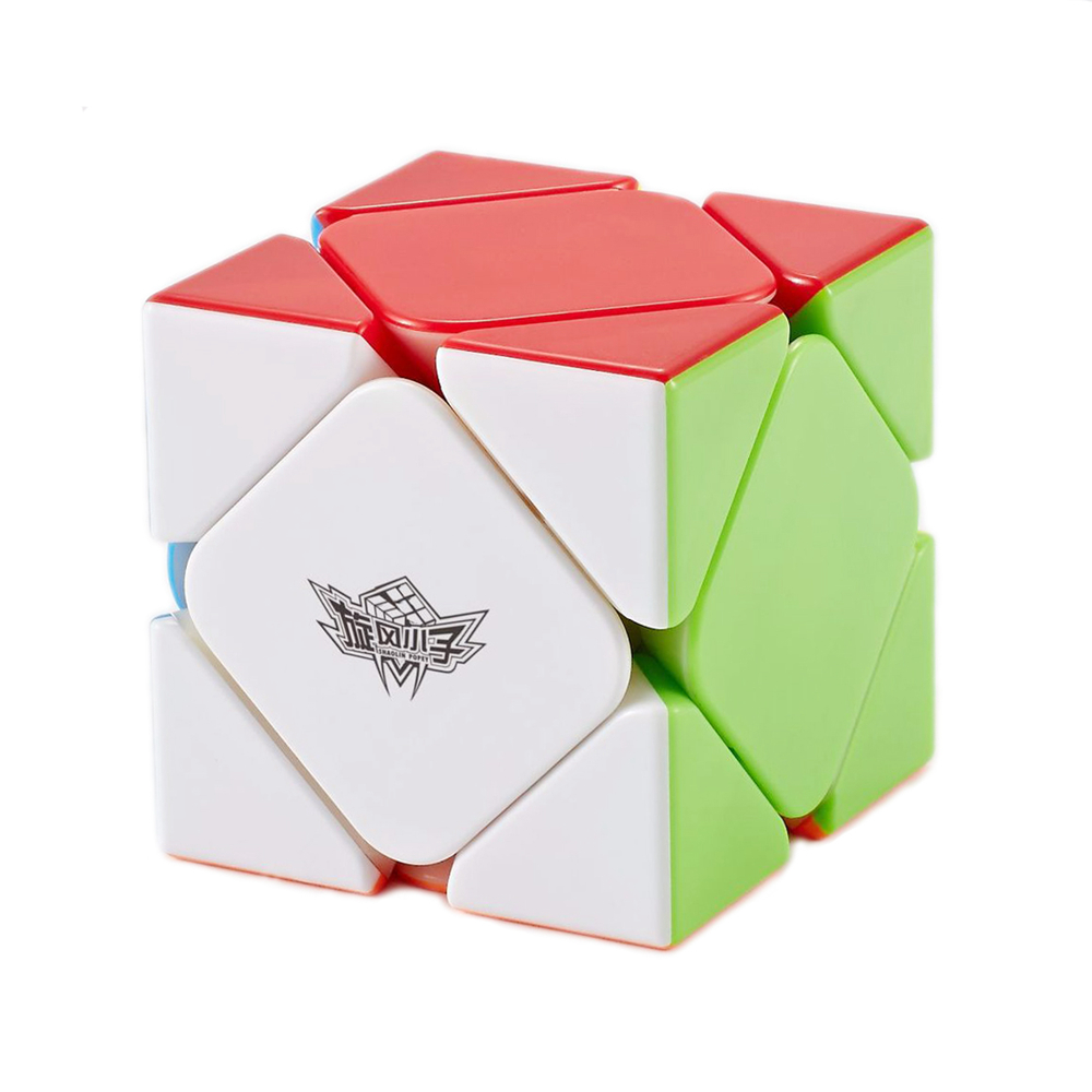 цена на Cyclone Boys Stickerless Magnetic 3x3x3 Skew Magic Cube Speed Puzzle Game Cubes Educational Toys for Children