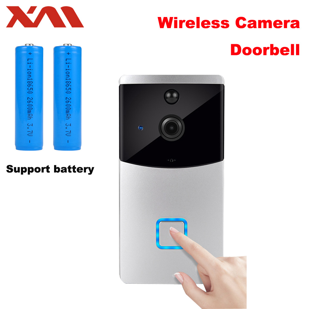 Sans fil WiFi Vidéo Sonnette Caméra IP sonnette IR de Vision Nocturne Moniteur PIR Intelligent Caméra Vidéo Interphone XM-IDG1