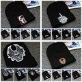 Hot! 2016 Fashion Winter Hat Black Cotton Skull Wool Beanies Cap Knitted Hat For Women Men Outdoor Warm Hip Hop Bonnet Knit Hat
