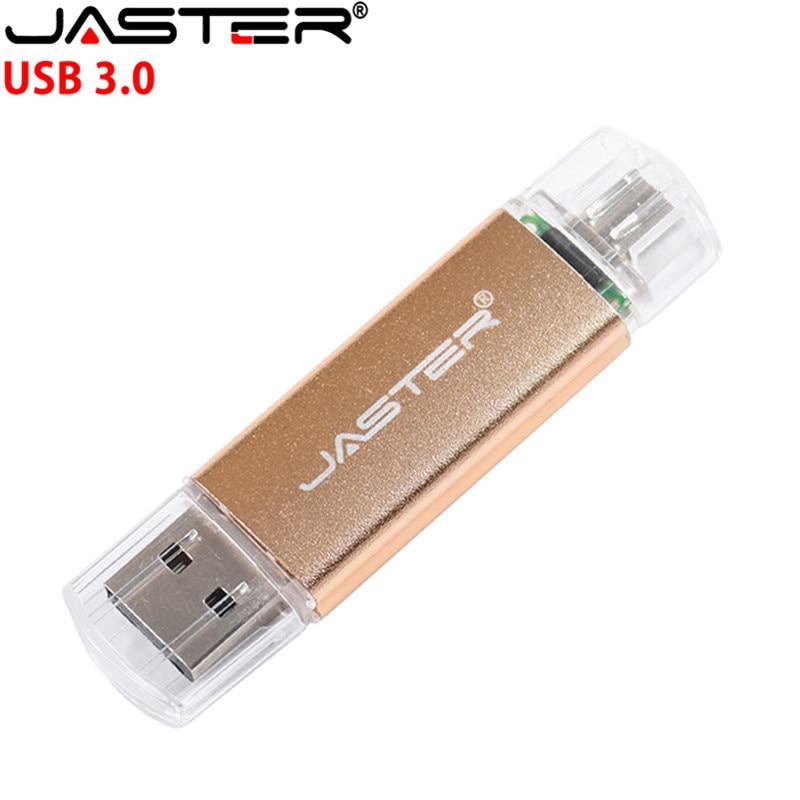 3 2 1 New JASTER OTG USB Flash Drive High Speed Pen Drive 128GB 64GB 2 in 1 Micro Usb Stick 3.0 32GB 16GB 8GB Flash Drive Pendrive (1)