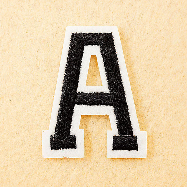 letter a size455cm diy cloth patch badge embroidered
