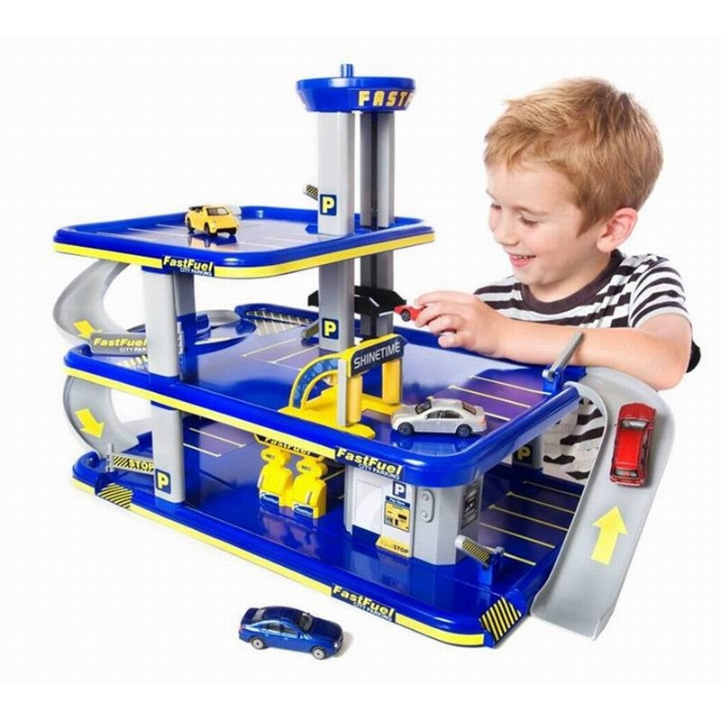 On Stock DIY assembled three floors of car parking children educational toys with five cars Kids Toys Best Gifts  children best gift fashion sex red color diy metal supper car assembled model toys