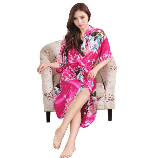 2016 Venda Quente de Alta Qualidade Mulheres Atacado Varejo Robe Retro Rendas Robe De Cetim Kimono Robe 2016 Das Mulheres Da Menina Atacado Varejo