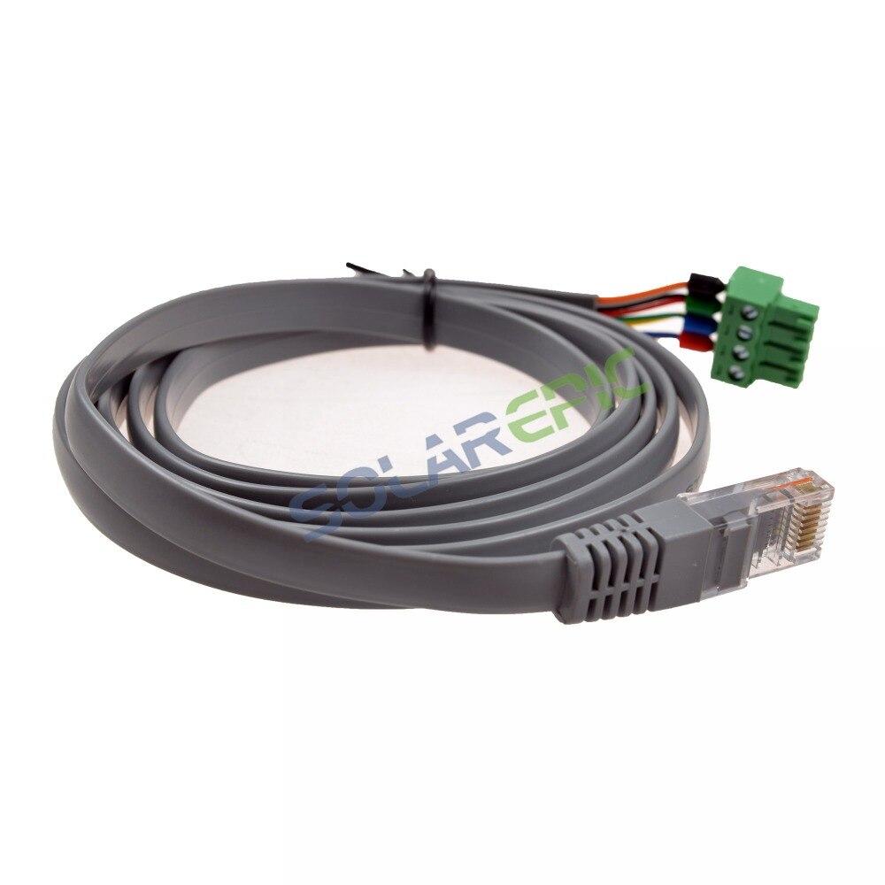 Złącze kabla RJ45 Epever kabel służy do Epever MPPT kontroler słoneczny CC-RJ45-3.81-150U regulator słoneczny akcesoria solarne kabel