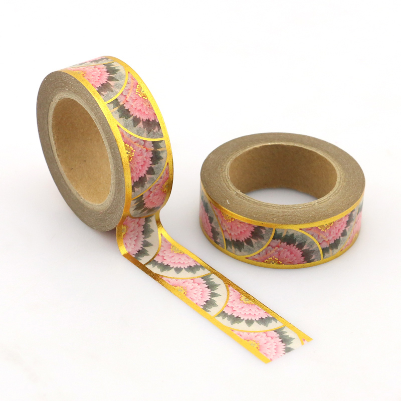 1pcs NEW 15mm*10M Colorful Pink Patels High Quality Paper Adhesive Tape Blue Sticky Paper Tape Masking
