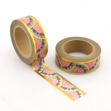 1pcs NEW 15mm*10M colorful pink patels High Quality Paper Adhesive Tape Blue Sticky Masking