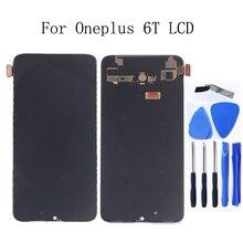 AMOLED מקורי LCD תצוגה עבור Oneplus 6 T תצוגת מגע מסך החלפת ערכת 6.41 סנטימטרים 2340*1080 זכוכית מסך + כלים