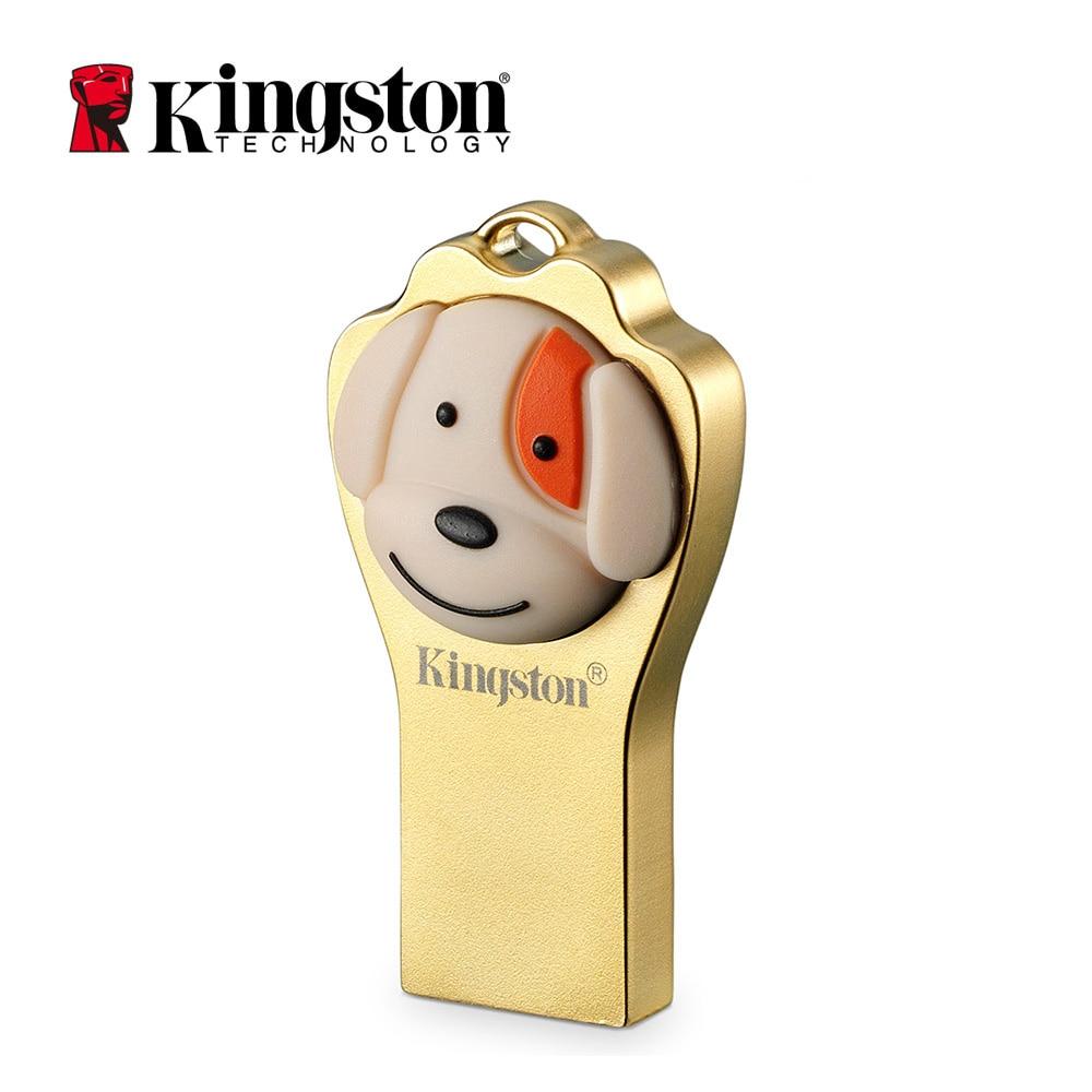 Kingston USB Flash Disk Pendrive 64gb cle usb Cartoon Memory Stick Limited Edition Metal Dog Key usb 3.1 Pen Drive high speed flash disk 32gb silver metal 3 0 usb flash drive pendrive 4gb 8gb 16gb 64gb flash drive usb3 0 memory stick pendrive