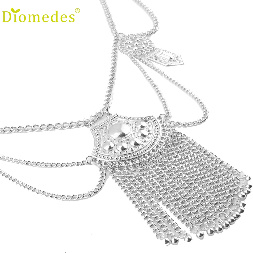 Diomedes Necklace Sexy Women Link Body Waist Chain Slave
