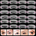 24pcs/lot Eyebrow Stencils 24 Styles Reusable Eyebrow Drawing Guide Card Brow Grooming Template DIY Make Up Tools Wholesales
